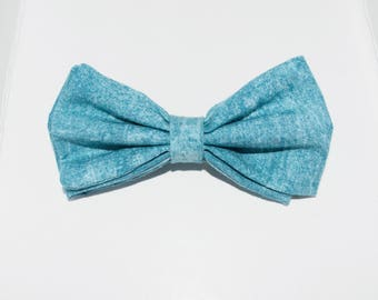 Kids Chambray Bow Tie