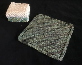 Square Knitted Dishcloth