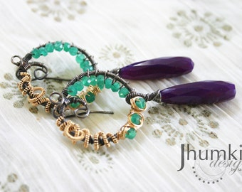 SALE 20% OFF Nabhya /// Earrings by Jhumki - designs by raindrops