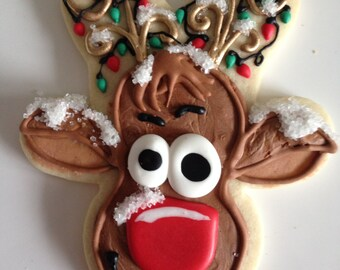 CHRISTMAS RUDOLPH sugar cookies