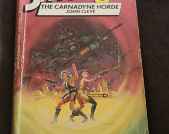 vintage paperback book spaceways 17 the carnadyne horde 1984 john cleve science(andrew offut) science fiction sleaze