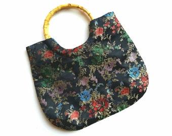 Black Multi Colored Asian Inspired Handbag