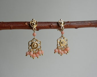 Coral Terpsichore Earrings
