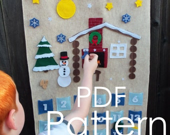 Build-A-Scene Christmas Countdown Advent Calendar PDF Pattern