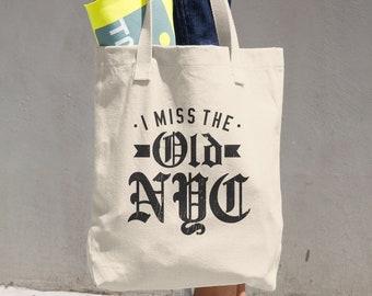 NYC Cotton Tote Bag, New York City, Market Bag, Grocery Bag