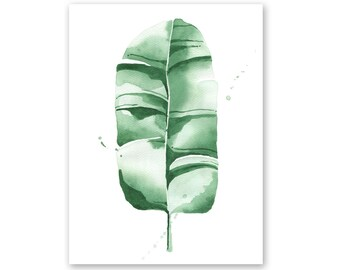 Banana Leaf no. 8 Watercolor Giclee Fine Art Print Poster of Original Painting