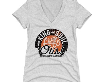 Otis Redding Women's Shirt | Soul Music | Women's V-Neck | Otis Redding Live O