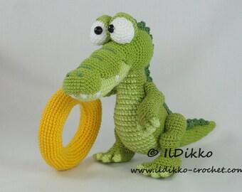 Amigurumi Crochet Pattern - Conrad the Crocodile - English Version