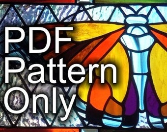 PATTERN for Monarch Butterfly Stained Glass