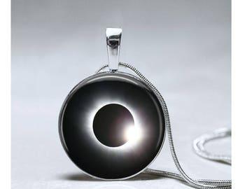 Solar Eclipse pendant Solar Eclipse 2017 necklace souvenir