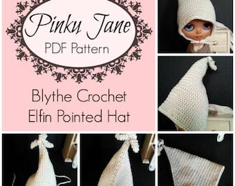 NEW PDF - Blythe Crochet Elfin Pointed Hat in Size 3 Crochet Thread Downloadable PDF Pattern