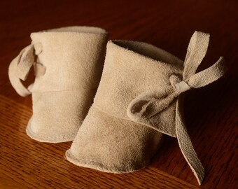 """Waldorf Doll Shoes 12"""" Soft Leather Suede Doll Boots"""