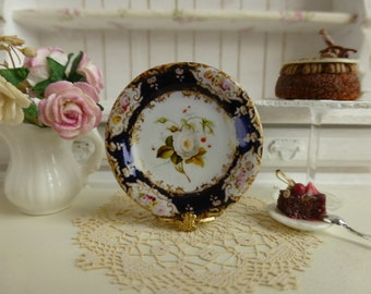 Coalport Bavaria Semi Double White Rose Dollhouse Plate