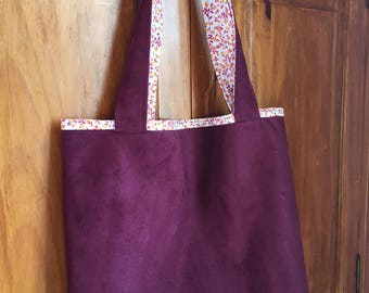 Burgundy suede tote bag and Liberty (end of series)