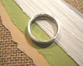 Hammered Stacking Ring in Antique Silver from Nunn Design - Size 8