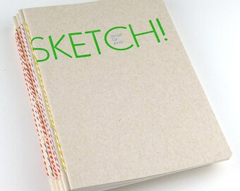Shut Up and Sketch Letterpress Notebook