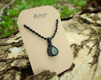 Seaham Seaglass Macrame Wrapped Necklace