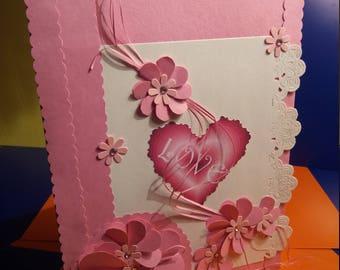 Beautiful Quilled Flower Card, Valentine Card, Birthday Card