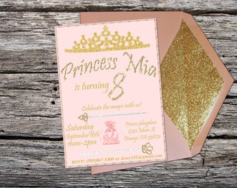Invitation Custom Printable Princess Party