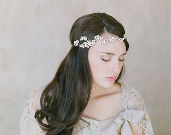 Crystal rhinestone bridal headband - Crystal dazzle wave headband - Style 518 - Ready to Ship