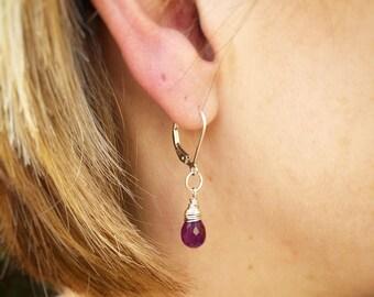 Amethyst Jewelry, February Birthstone, Amethyst Earrings, Purple Earrings, Delicate Earrings, Everyday Earrings, Gemstone Earrings, Amethyst