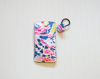 Preppy Lilly Pulitzer Sunken Treasures Eyeglass Sunglasses Case