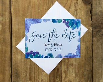 Bold and bright floral wedding save the dates | Wedding save the date cards | Rustic wedding save the dates | BOLD AND BLOOMY |