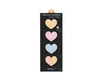 Heart Sticky Notes, Planner Sticky Notes, Sticky Memo, Post It Notes, To Do List, Reminder, (MD-HT)
