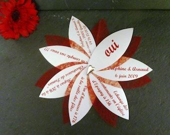 Set of 60 with envelope original wedding invitations