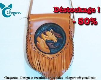 """Spirit"" double leather bag"