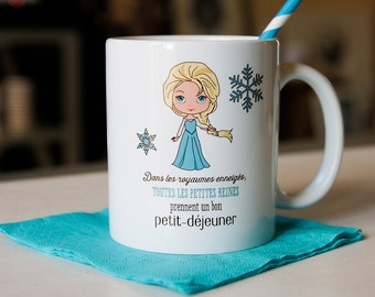 the Mug for little Queens who take a good breakfast Cup ceramic girl, Queen, Princess, costume