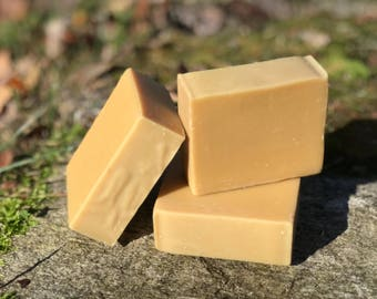 Grapefruit Shampoo and Body Bar - All Natural Handmade with Jojoba Oil and Apple Cider Vinegar