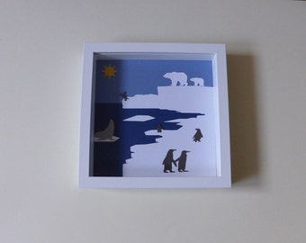 Table cut paper, theme ice