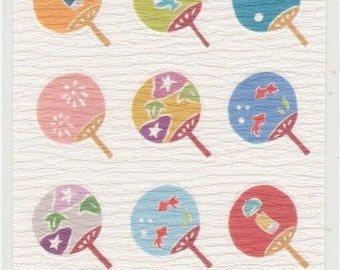 Japanese Uchiwa Stickers - Paper Stickers - Reference A4162