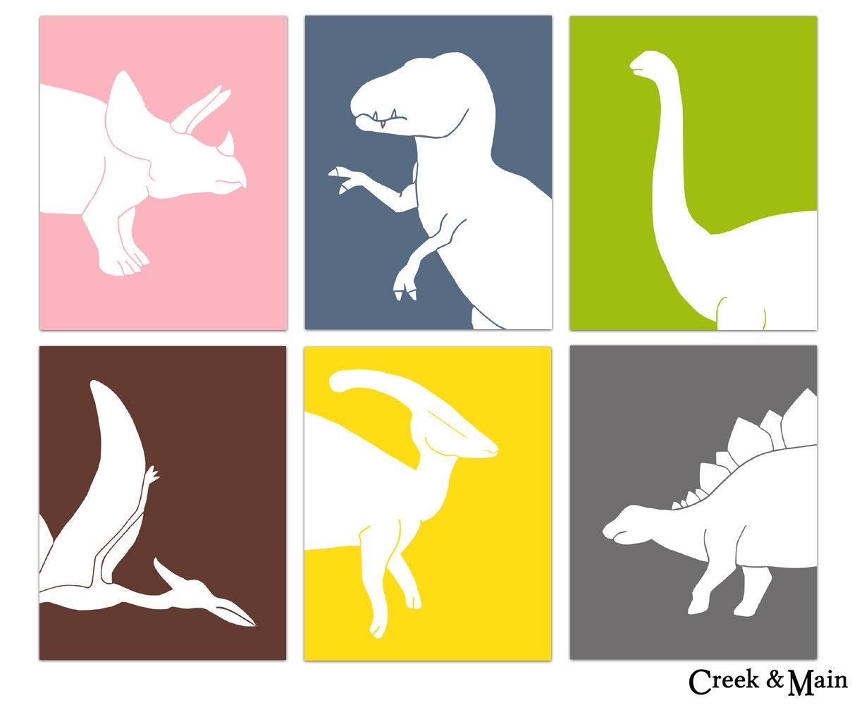 Dinosaur Decor Dinosaur Nursery Wall Art Dinosaur Bedroom