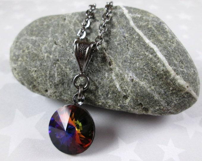 Swarovski Crystal Necklace - Volcano Rivoli