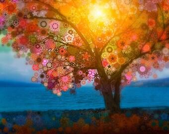 Cayuga - psychedelic fantasy surreal tree art print
