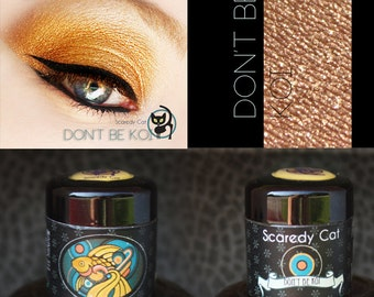 Gold Eye Shadow - Vegan - Loose Mineral Pigment Eyeshadow  - Scaredy Cat - DON'T BE Koi - 5 Gram Sifter