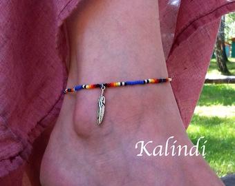 Bracelet Native American Anklet, Handmade Anklet, Howlite, Beaded Anklet, Ankle Bracelet, Summer Jewelry, blue Anklet, Seed Bead Anklet