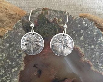 Dragonfly Fine Silver Earrings