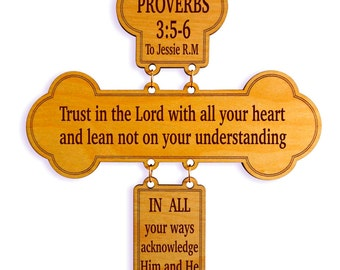 Proverbs 3 5-6 Gift - Trust in the Lord with all your Heart - Bible Verse Gift - Christian Gift for Dad - Mom - Aunt - Sister - Brother