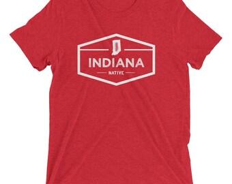 Indiana Native Vintage Triblend Short Sleeve T-Shirt