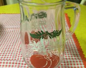 Vintage Tomato Pitcher