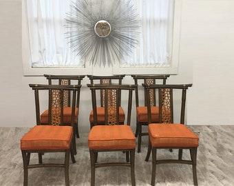 Mid Century Modern, danish, vintage dining, dining chairs original set of 6