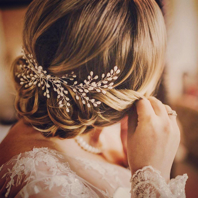 bridal headpiece bridal halo for updo hair vine freshwater