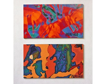Desert Dream and Fragments Magnet Set collectible colorful abstract art organic shapes and patterns