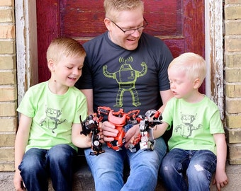 Big and Little Robot-Daddy and Me set