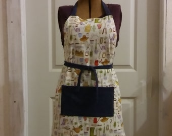Herb Garden-Themed Apron