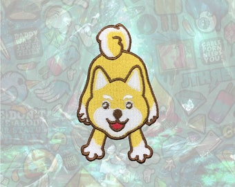 Shiba Cute Dog Patch Cartoon Patch Iron on Patch Sew On Patches
