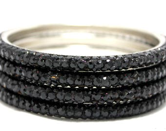 Black bangle - 5 row
